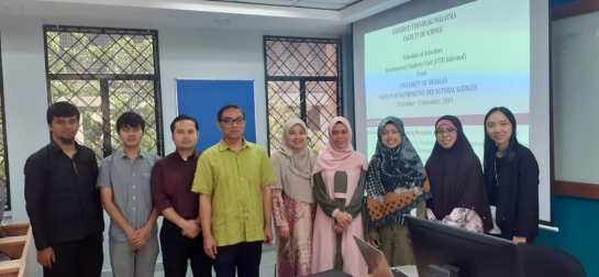 4 Mahasiswa FMIPA Universitas Andalas Menjalani Program Student Mobility di Faculty of Science UTM